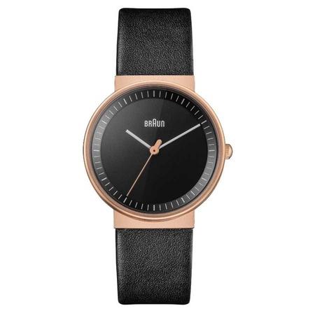 Braun - Braun BN0031RGBKL Deri Kayışlı Kadın Kol Saati Siyah-Kahverengi