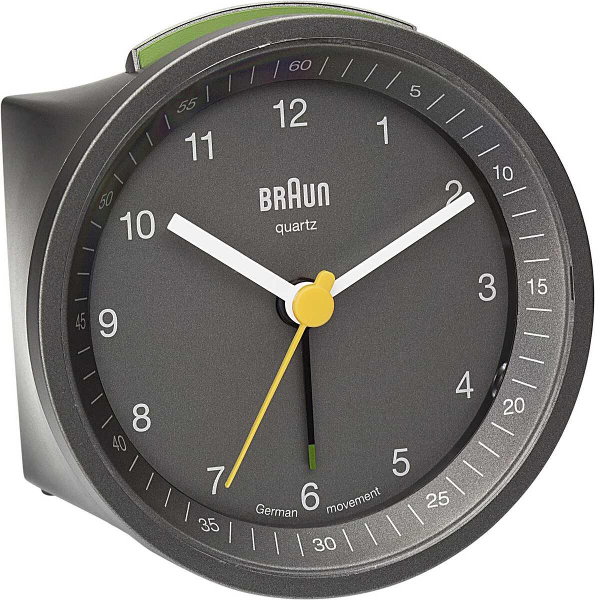 Braun BNC007GYGY Alarmlı Masa Saati Gri