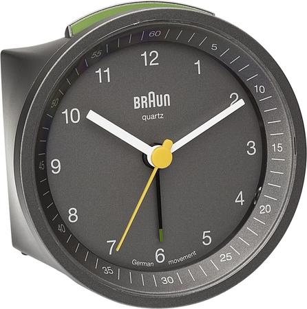Braun BNC007GYGY Alarmlı Masa Saati Gri - Thumbnail