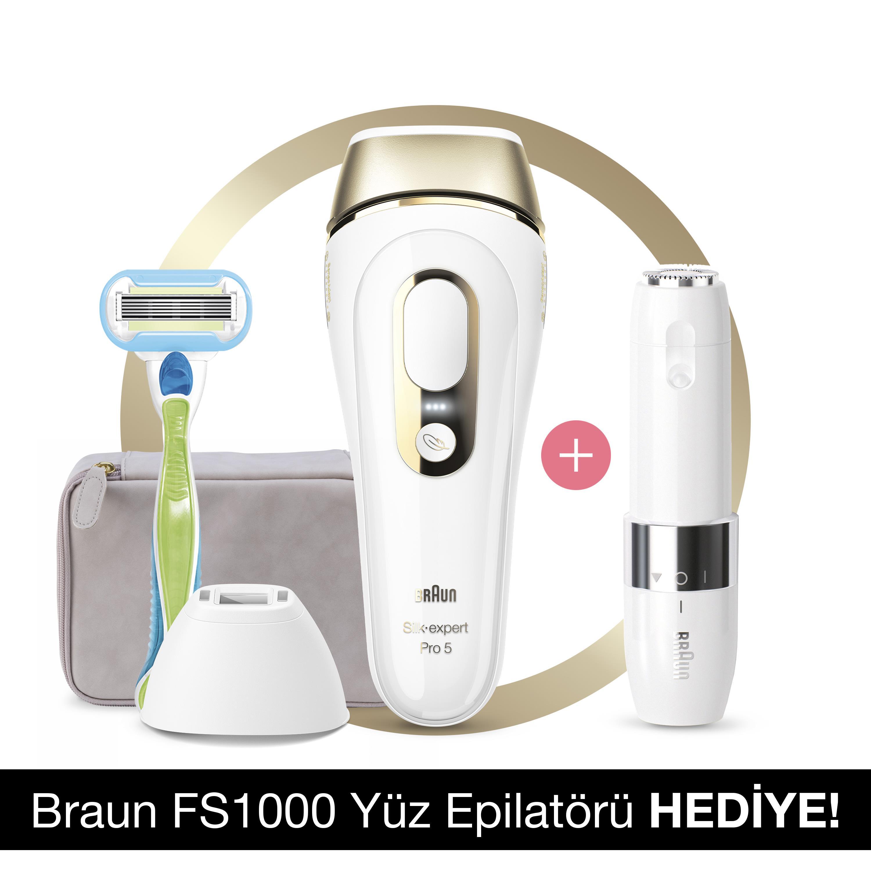 Braun - Braun Silk·Expert PL5129 Yeni Nesil IPL 400.000 Atımlı+ Braun FS 1000 Mini Düzeltici