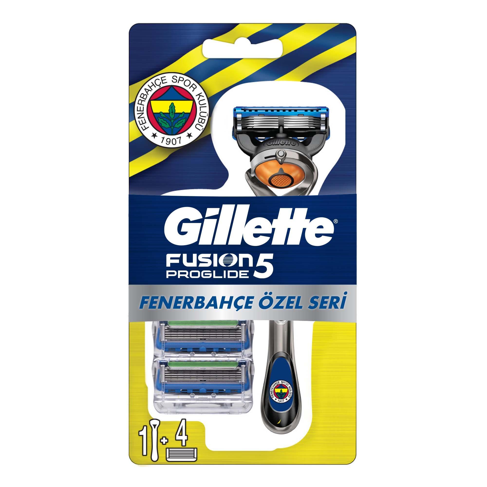 GILLETTE - Fusion Proglide Tıraş Makinesi + 4'lü Yedek Başlık Fenerbahçe Özel Seri