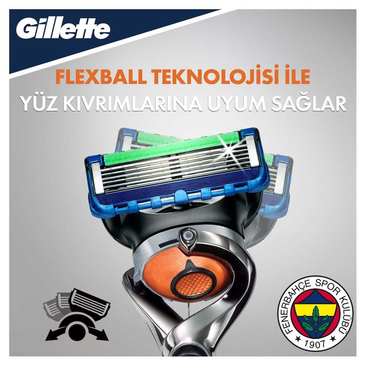 Fusion Proglide Tıraş Makinesi + 4'lü Yedek Başlık Fenerbahçe Özel Seri