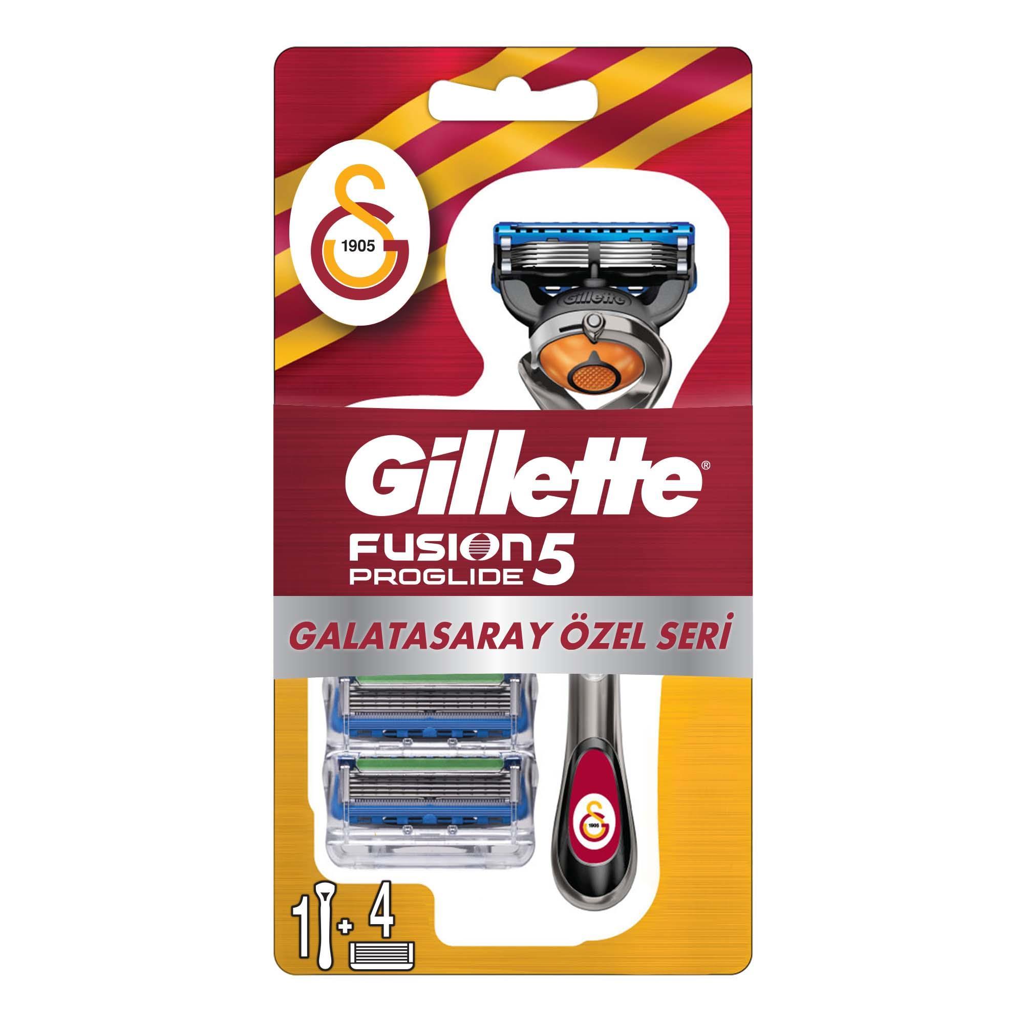 GILLETTE - Fusion Proglide Tıraş Makinesi + 4'lü Yedek Başlık Galatasaray Özel Seri