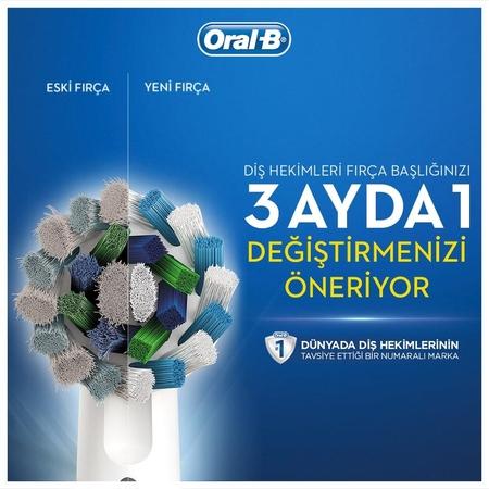 Oral-B Cross Action 4'lü Diş Fırçası Yedek Başlığı EB50 - Thumbnail