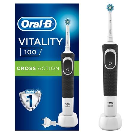 Oral-B - Oral-B D100 Vitality Cross Action Şarjlı Diş Fırçası - Siyah