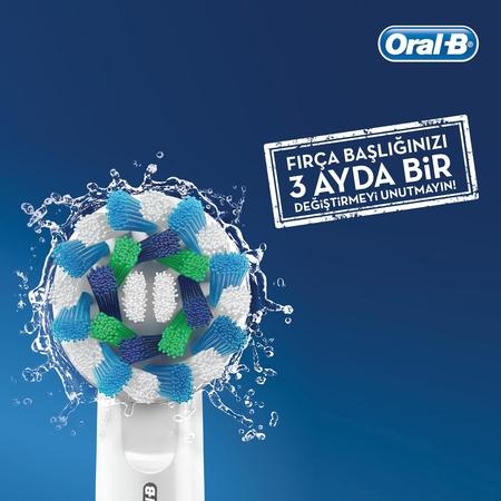 Oral-B D100 Vitality Cross Action Şarjlı Diş Fırçası - Siyah - Thumbnail