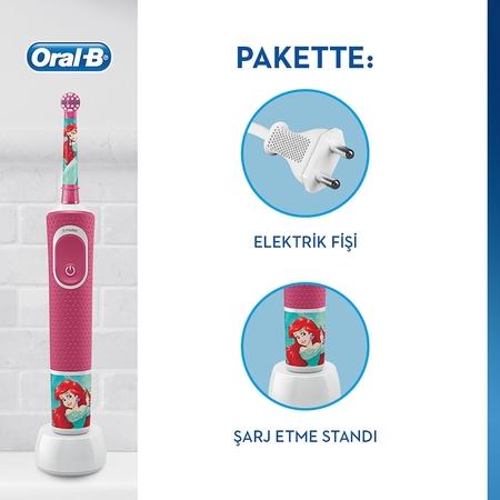 Oral-B D100 Vitality Princess Özel Seri Çocuklar İçin Şarj Edilebilir Diş Fırçası - Thumbnail