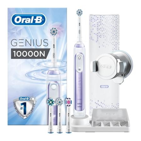 Oral-B - Oral-B Genius 10000 Orchid Purple Şarj Edilebilir Diş Fırçası