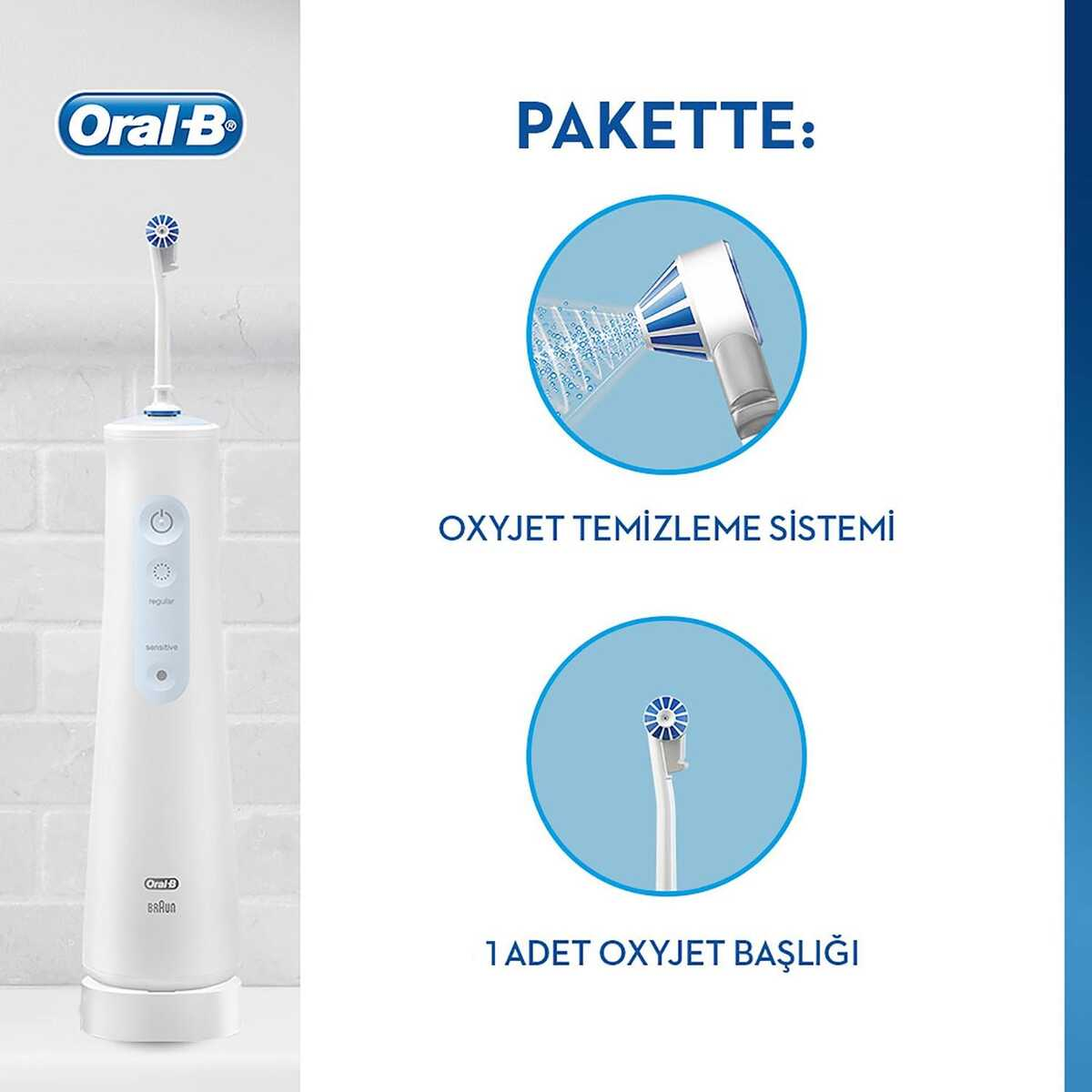 Oral-B Aquacare Oxyjet Şarj Edilebilir Ağız Duşu