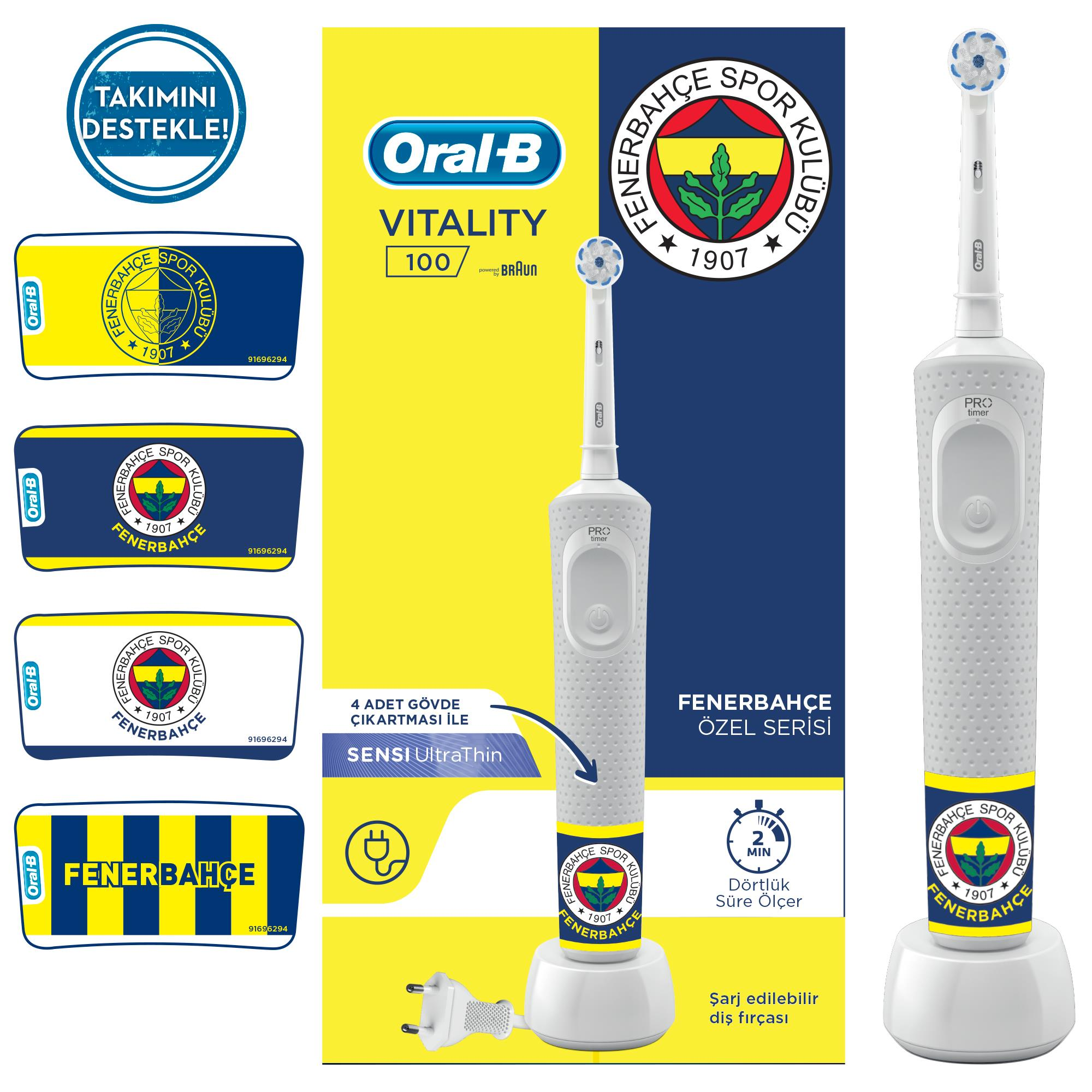 Oral-B - Oral-B Vitality D100 Fenerbahçe Serisi Şarjlı Diş Fırçası