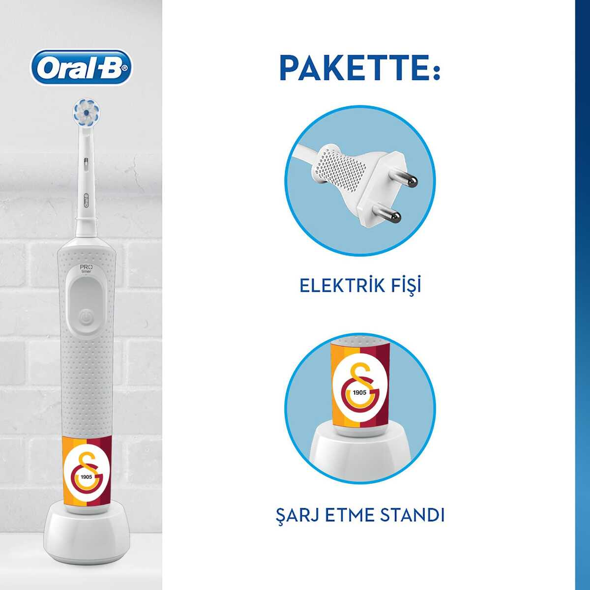 Oral-B Vitality D100 Galatasaray Serisi Şarjlı Diş Fırçası