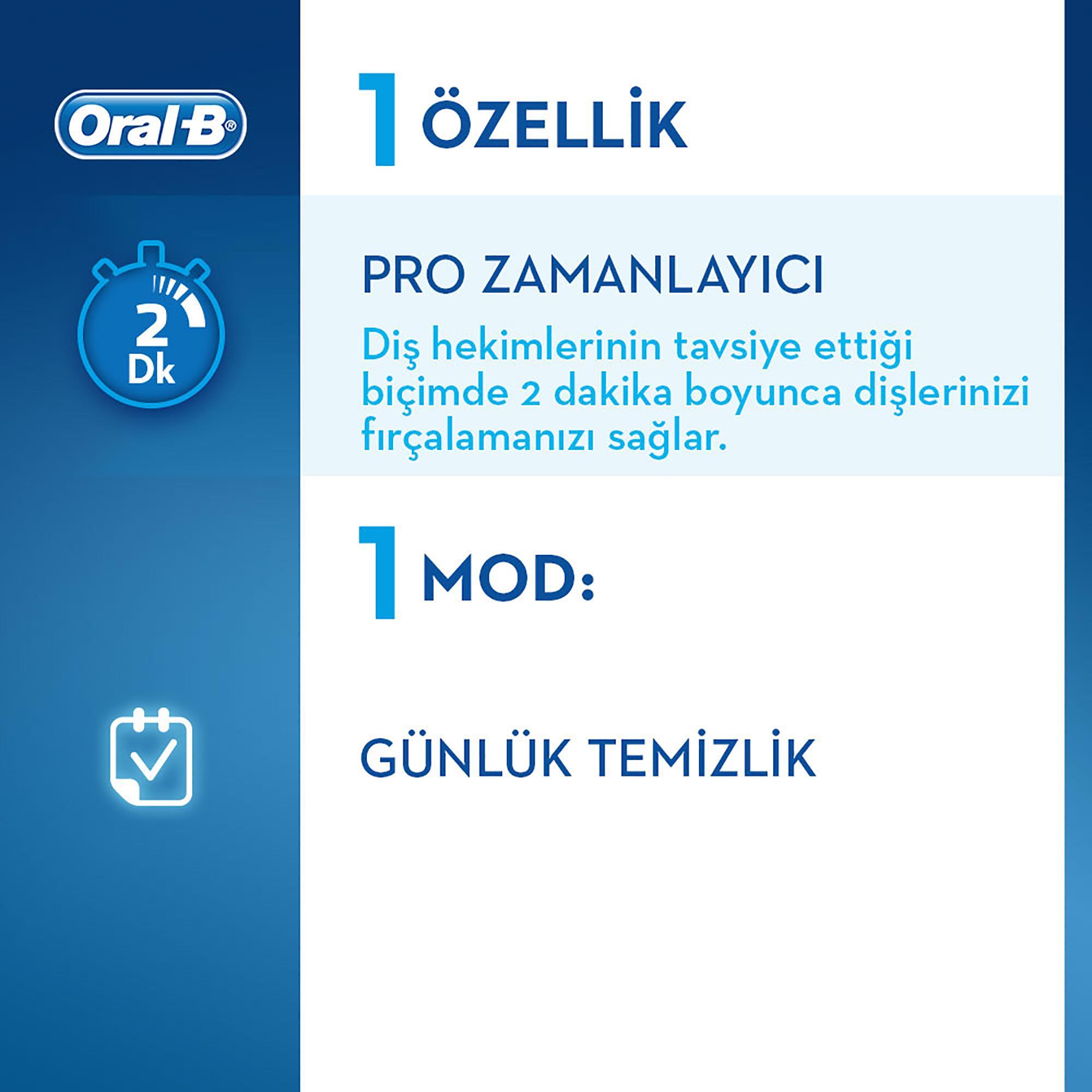 Oral-B Vitality D100 Galatasaray Serisi Şarjlı Diş Fırçası - Thumbnail