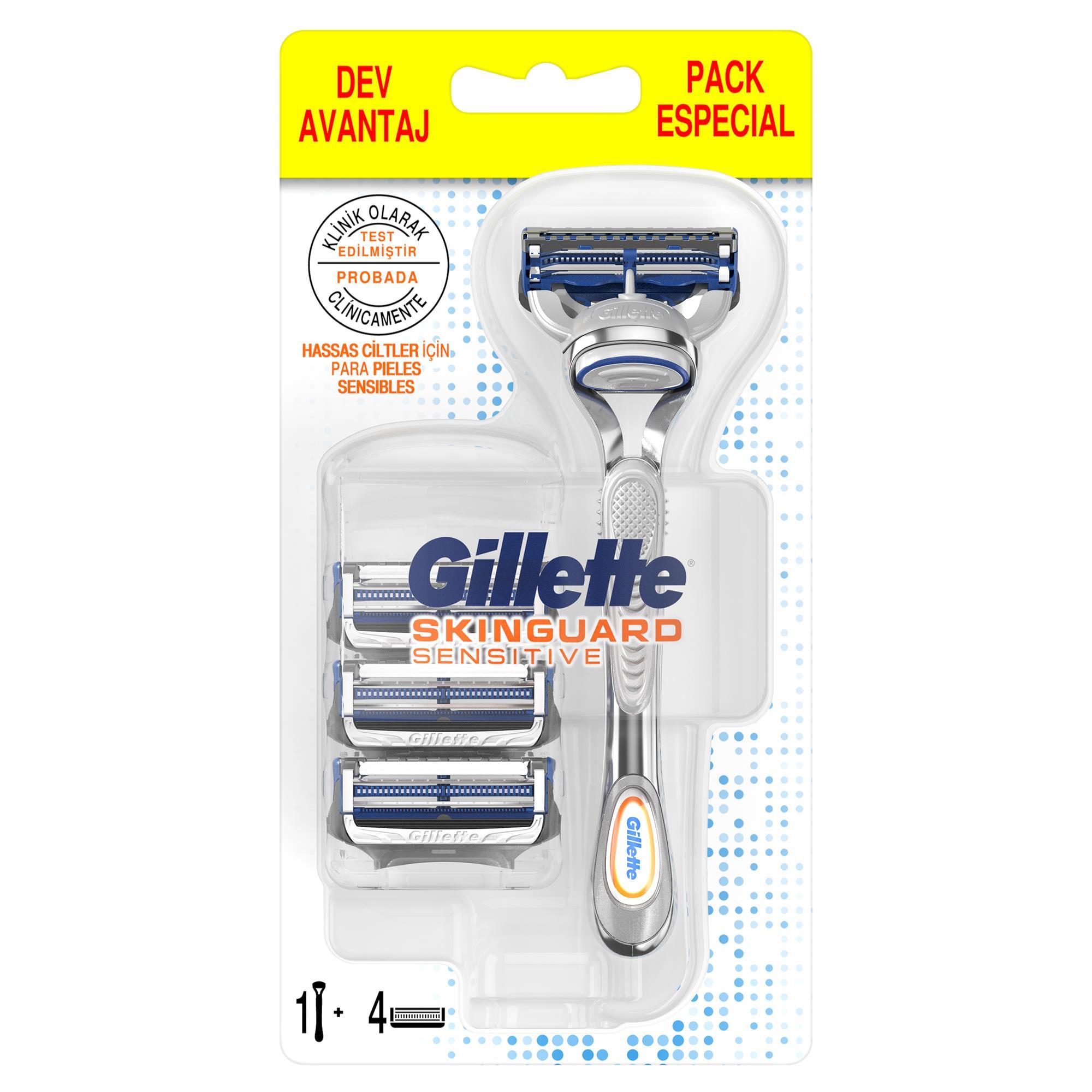 - Skinguard Tıraş Makinesi + 4'lü Yedek Tıraş Bıçağı
