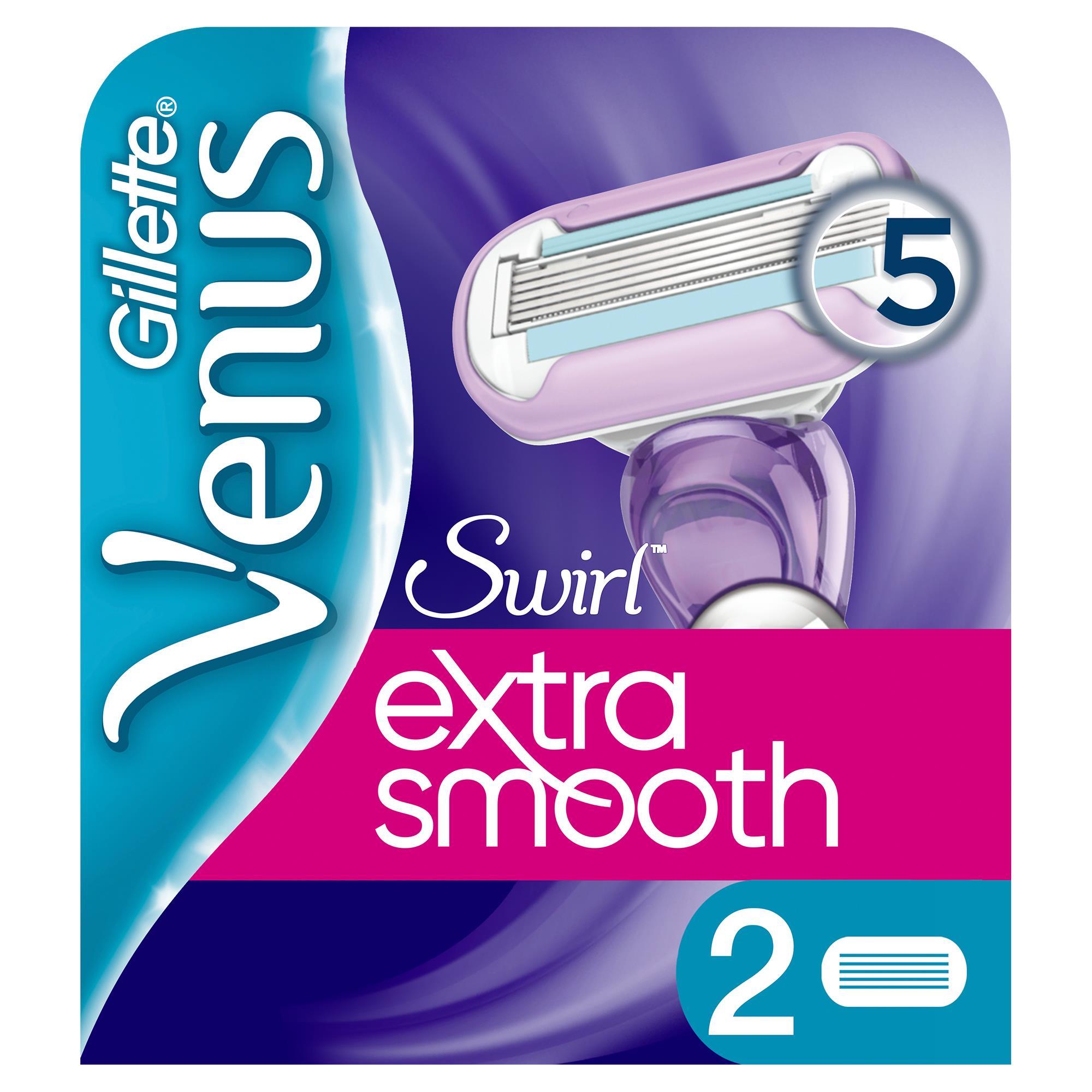 Gillette - Venus Extra Smooth Swirl 2'li Yedek Başlık