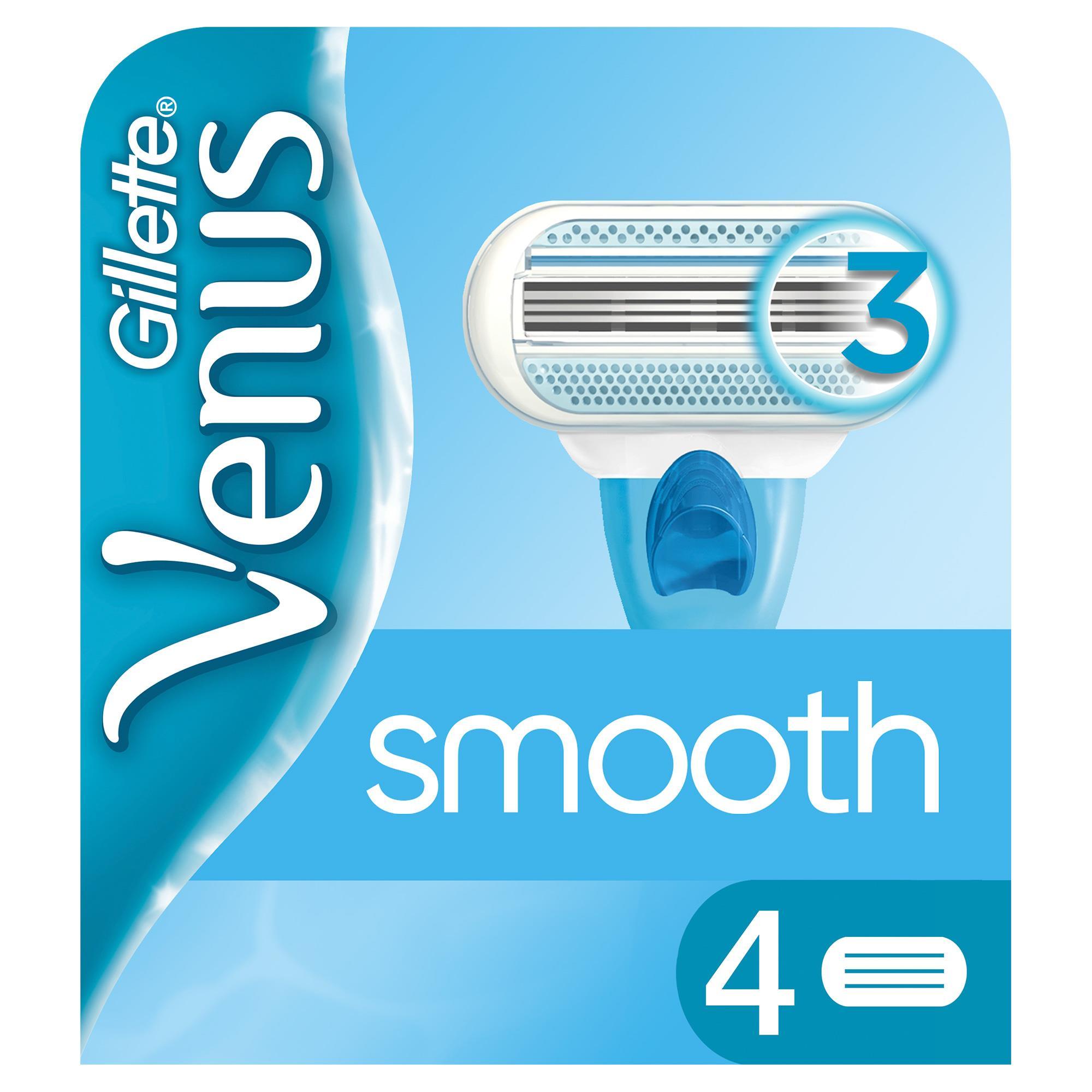 Gillette - Venus Smooth 4'lü Yedek Başlık